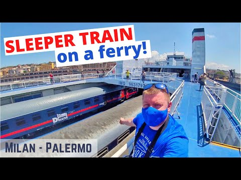 Milan to Sicily by Intercity Notte sleeper train and UNIQUE train ferry crossing (DELUXE cabin)