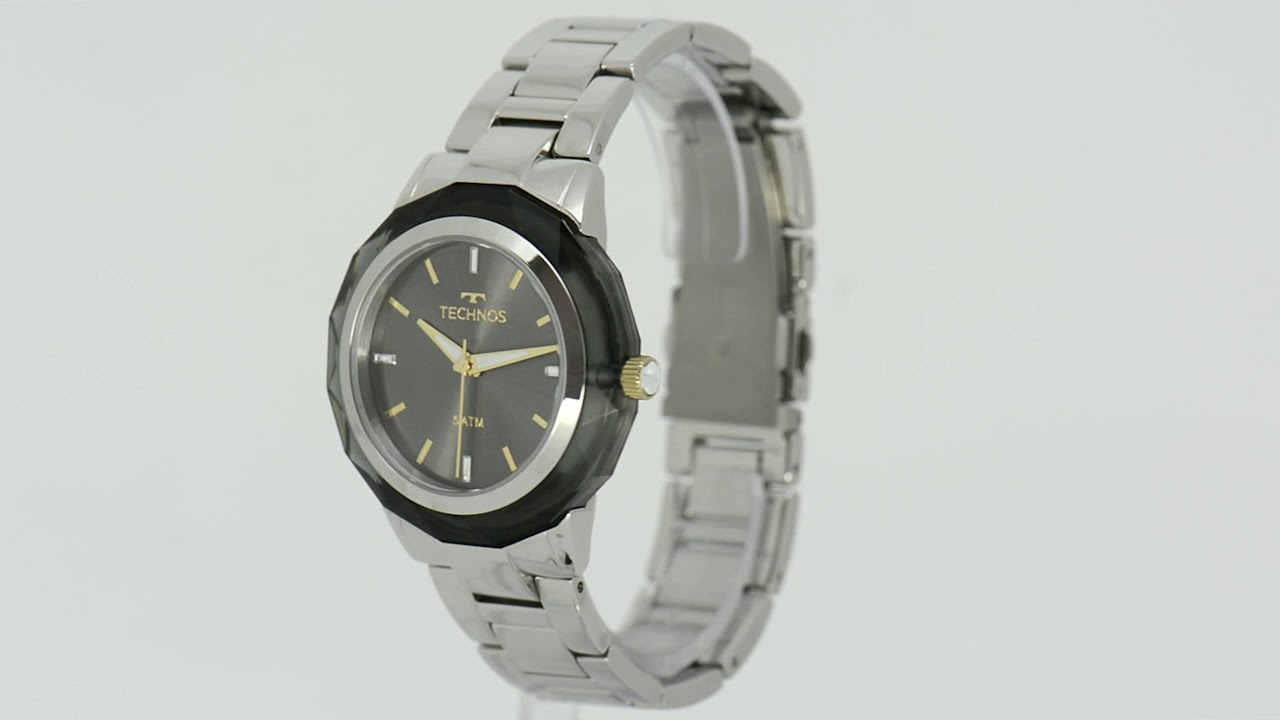 Relógio Technos Feminino Elegance Crystal Swarovski 2035MCL 1C - Eclock bd45f6a9b7