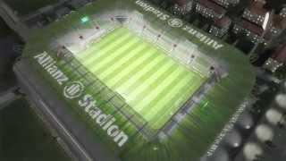 Das Allianz Stadion in Wien-Hütteldorf