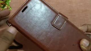 Bracevor Leather Flip Cover Stand For Redmi 5 Unboxing