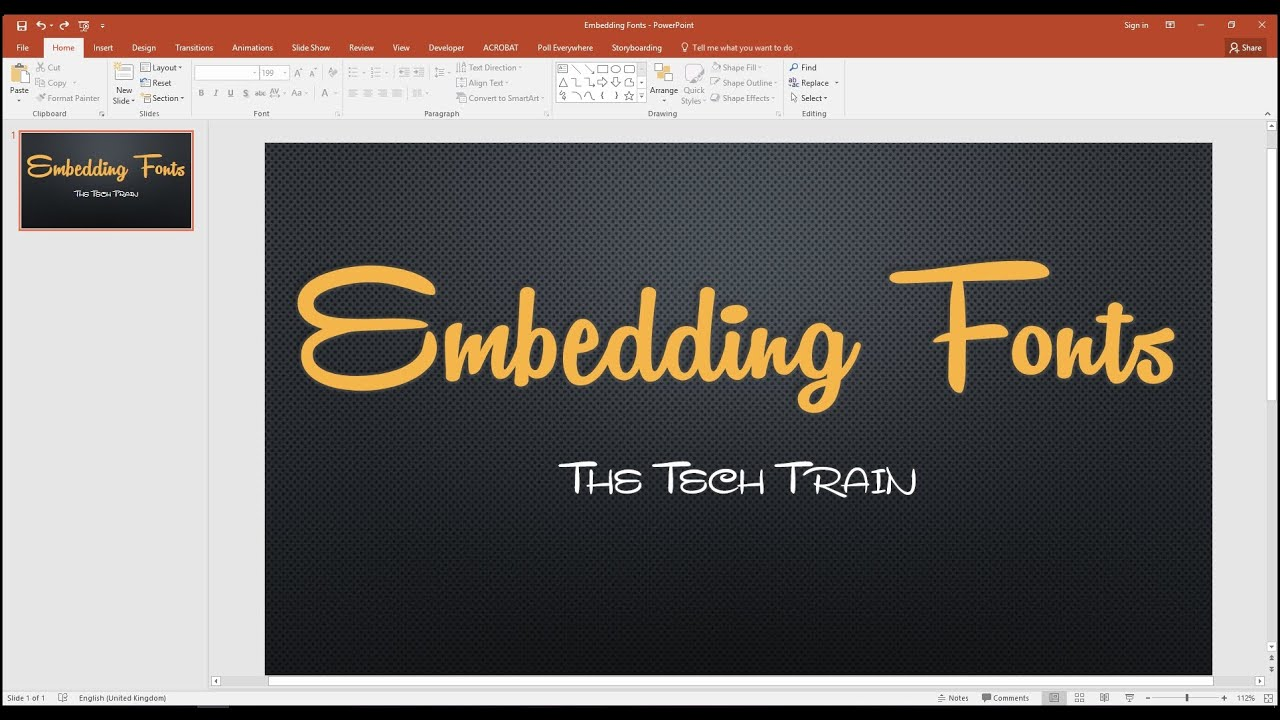 How To Embed Fonts In A Powerpoint Presentation