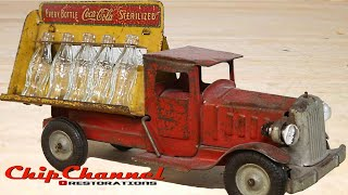 1930s Metalcraft Light Up Coca Cola Delivery Truck Restoration