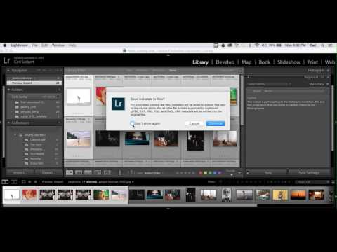 Applying IPTC Metadata in Adobe Lightroom