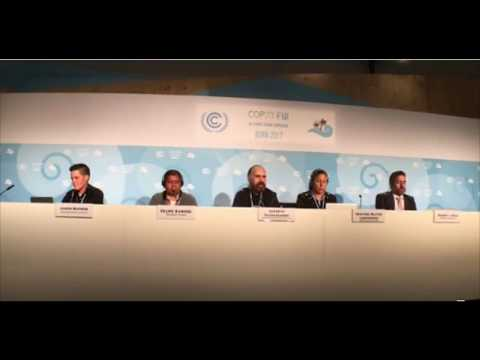 COP23 Press Conference organized by Grassroots Global Justice Alliance and COPINH