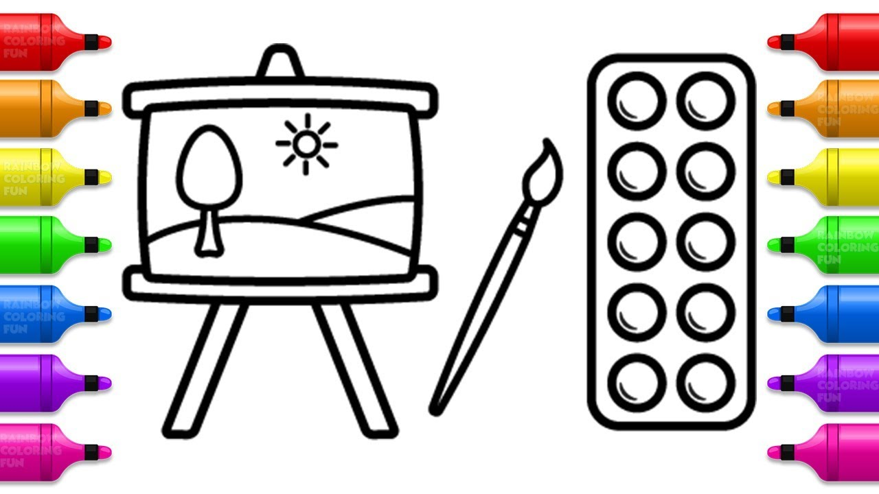Painting Set Coloring Book For Kids Learn Colors With Colored