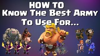 Clash of Clans: HOW TO KNOW THE BEST ARMY FOR THE BASE - 2 BASES EXAMINED WITH ATTACK REPLAYS