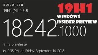 Windows 10 Insider Preview18242.1000 19H1 FIX BUGS MELORAS  MAIS SEM NOVIDADES !!!!