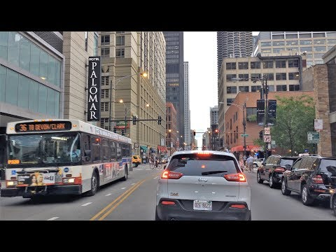 Driving Downtown - Chicago's Great Street - Chicago Illinois USA