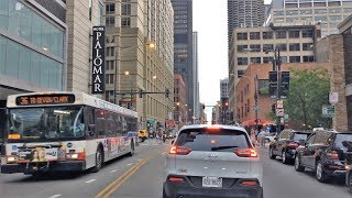 Driving Downtown - Chicago State Street 4K - USA