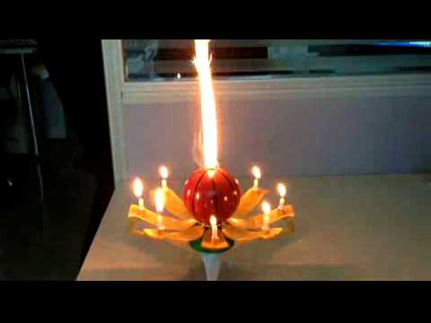 Wowzza The Amazing Birthday Candle - Basketball