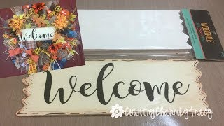 How to Create Signs for Wreaths using Cricut Explore | Step by Step Tutorial in Design Space