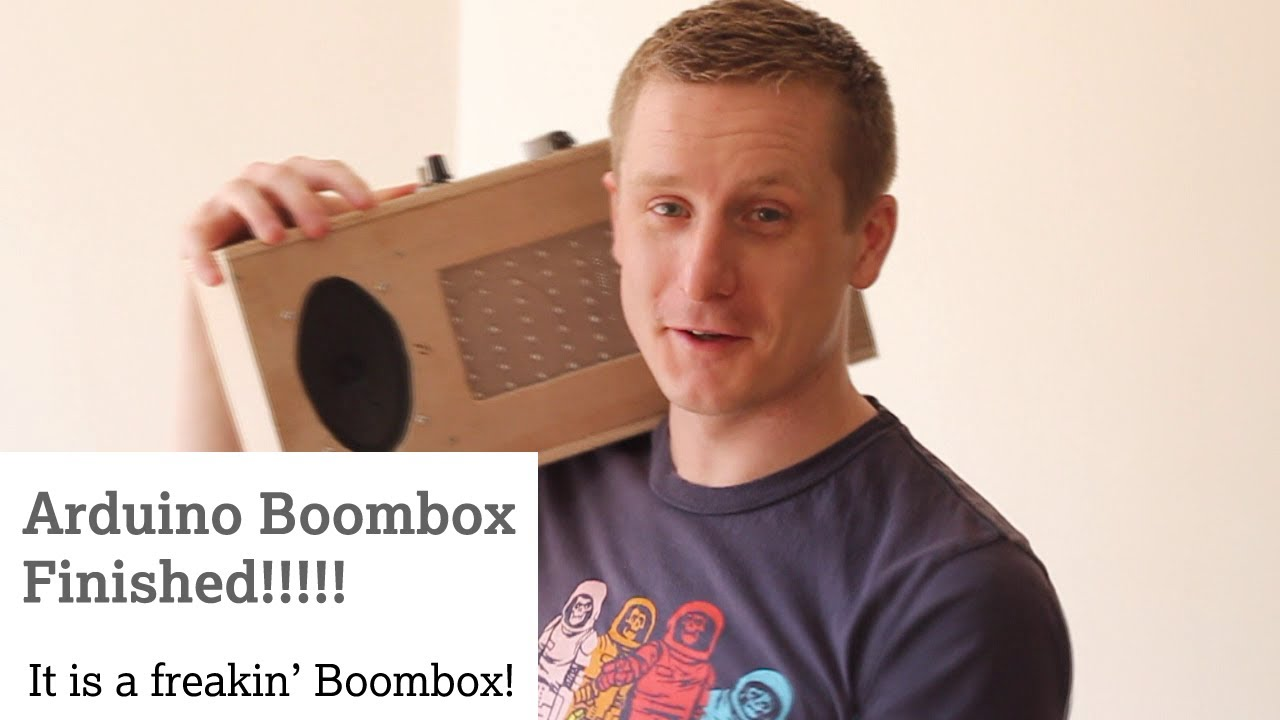 Arduino bluetooth audio boombox details and parts youtube