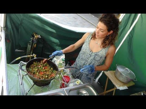 Trinidad Street Food: Okra Recipe + Sada Roti, Fried Plantain in wraps/boxes at Trini Kitchen London
