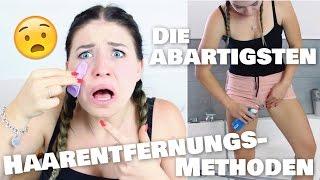 Die ABARTIGSTEN Enthaarungs-Methoden - Der TEST :O | BibisBeautyPalace