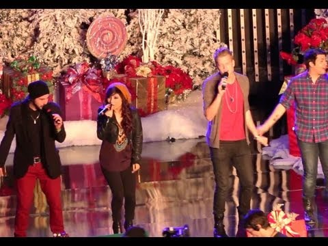 """Pentatonix Perform """"Angels We Have Heard On High"""" at Hollywood Christmas Parade 2012"""