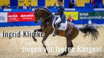 Ingrid Klimke siegt vor leeren Rängen! 🥇   mit Franziskus  Signal Iduna Cup Dortmund