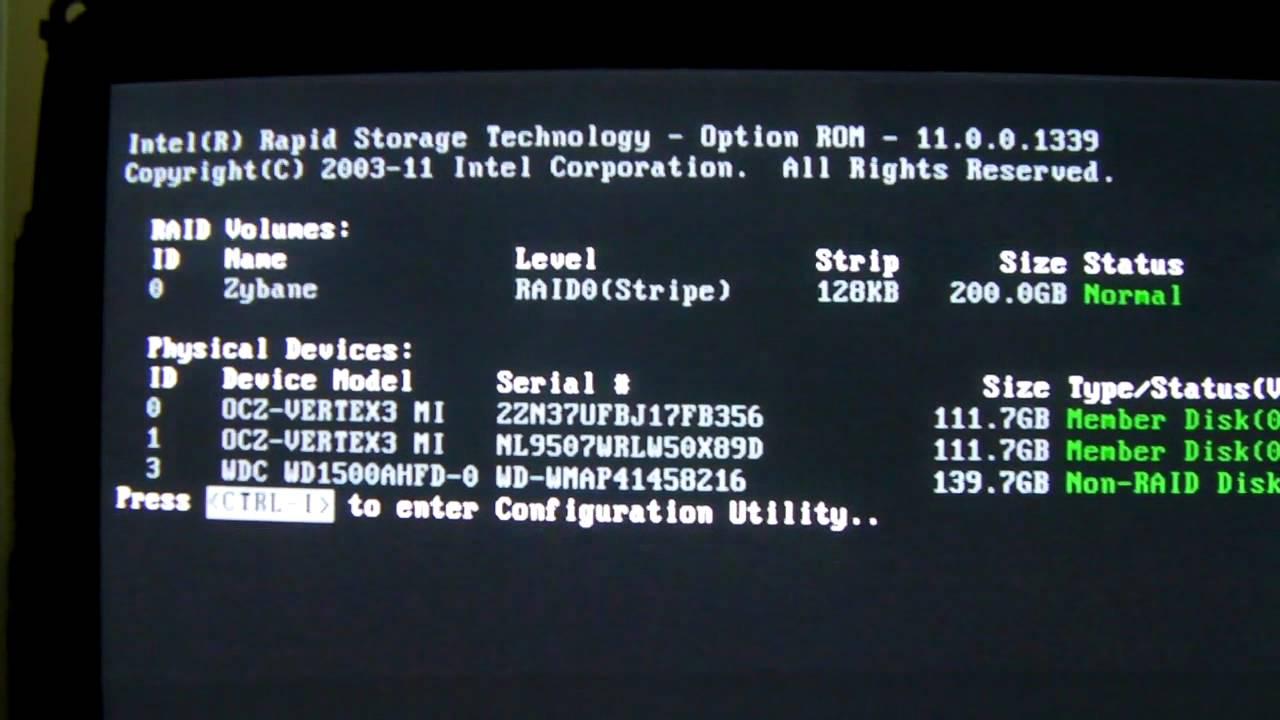 ASUS Maximus V GENE cannot enter RAID config with any BIOS problem