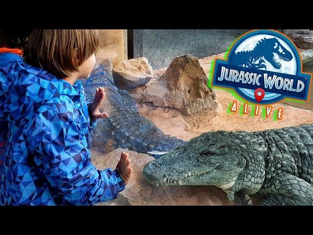 DINOSAURIOS Jurassic World Alive en el ZOO🐊T-REX, SARCOSUCHUS y KAPROSUCHUS con COCODRILOS del NILO