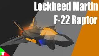 ROBLOX- Plane Crazy [Alpha] [Tutorial] Lockheed Martin F-22 Raptor