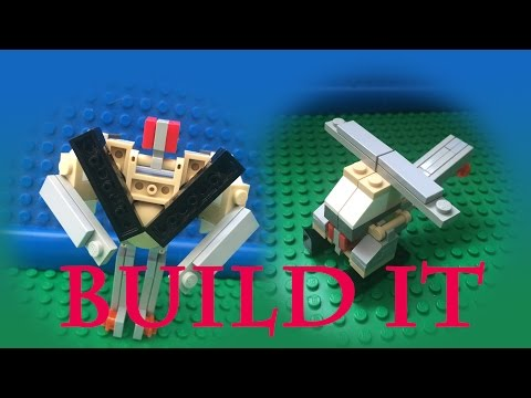 Mini Lego Helicopter Transformer Tutorial -