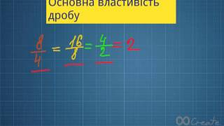 Основна властивість дробу.Математика 6 клас.