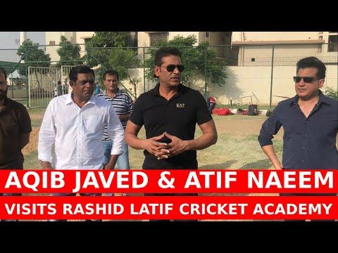 Aqib Javed & Atif Naeem from Lahore Qalandars visited RLCA in Karachi   Caught Behind