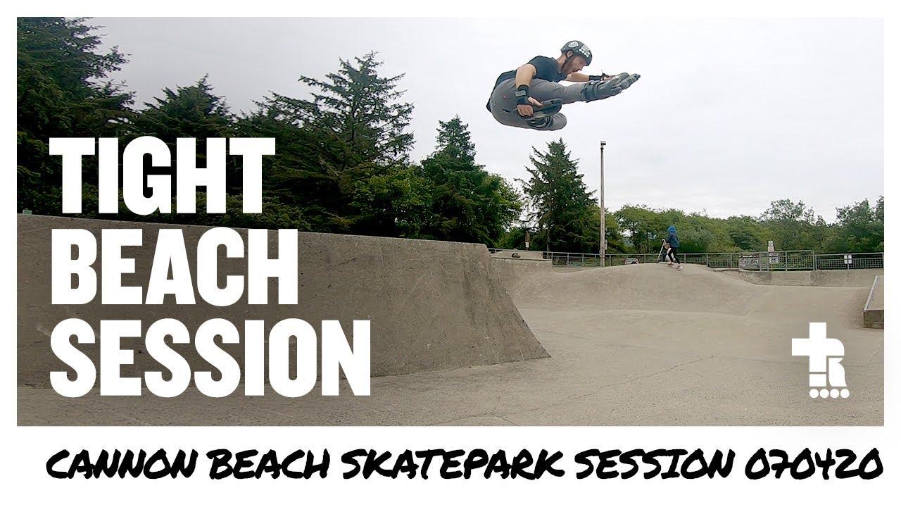 Tight Beach Session   Cannon Beach Skatepark 070420   Aggressive Inline Skating