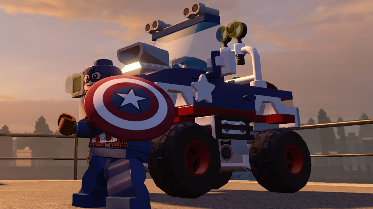 LEGO Marvel's Avengers - Captain America & His Vehicle ...