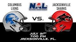 Columbus Lions vs Jacksonville Sharks