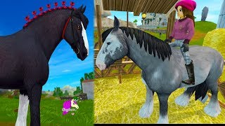 Beautiful Clydesdale Horse ! Buying New Horses in Star Stable - Roleplay Video