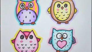 Como desenhar Coruja - How to draw Owl