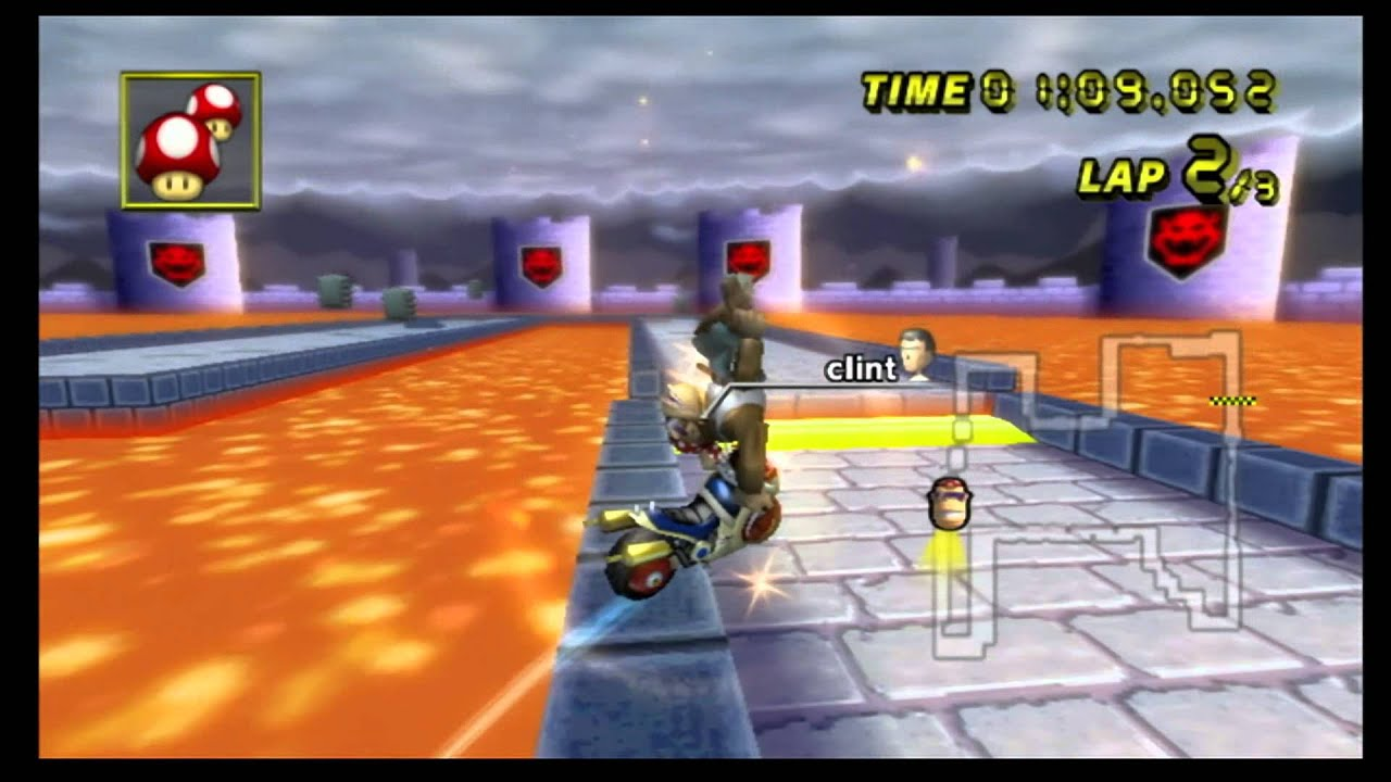 Mario Kart Wii Time Trial Retro Bowser Castle 3 2 25 053