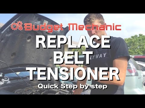 How to Replace Belt Tensioner - Honda , CRV , Accord