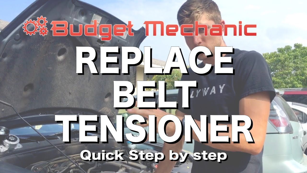 hight resolution of how to replace belt tensioner honda crv accord