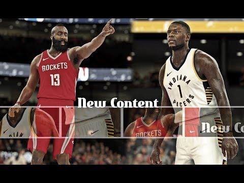 NBA 2K16 Updated 2018| Houston Rockets Vs Indiana Pacers - James Harden Battles It Out
