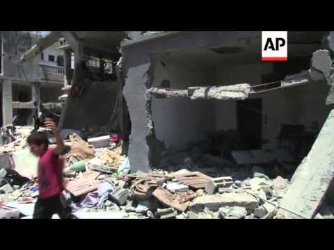 Moment of explosion; six killed in Israeli airstrike before ceasefire came into effect