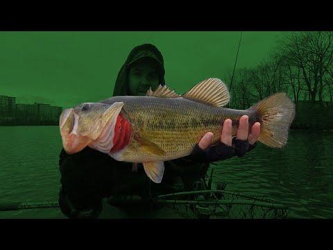 Early Spring Bass Fishing At Newton Lake, NJ