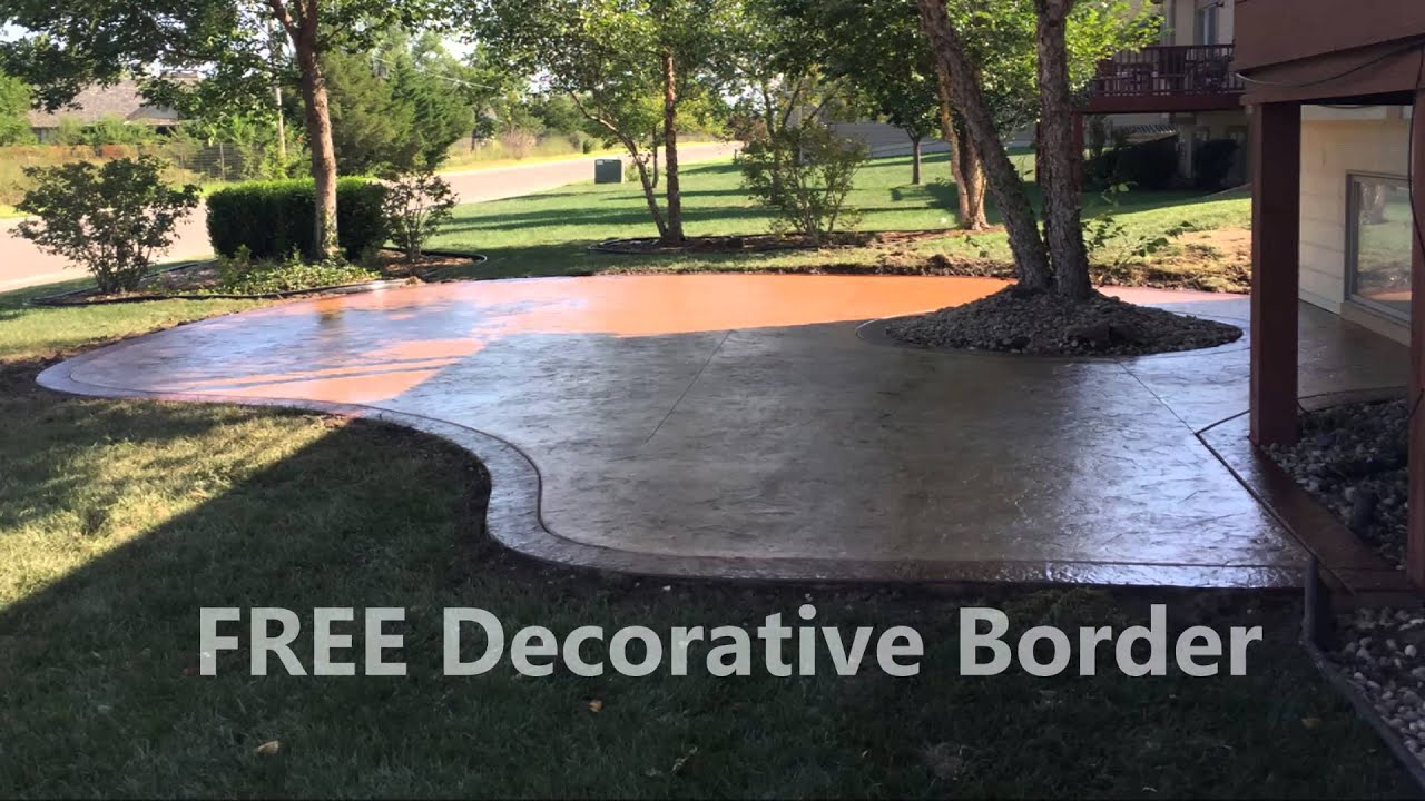Wichita Decorative Concrete Patio   Free Decorative Border   YouTube