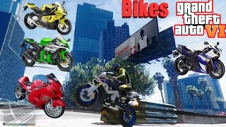 GTA 6: Graphics REDUX Bikes Gameplay! Ultra Realistic Graphic ENB MOD PC1080p 60 FPS
