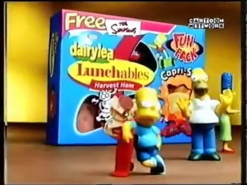 Dairylea Lunchables Simpsons UK 2000 Advert