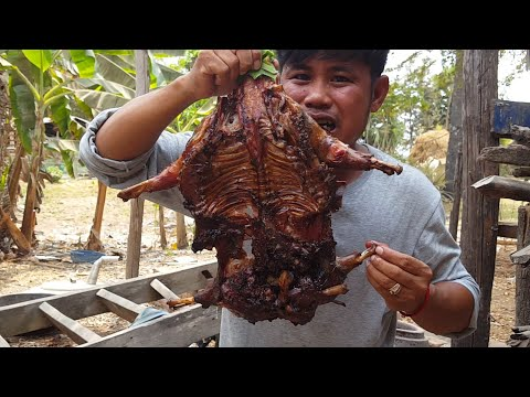 Primitive Technology-how To Do Dog's Meat,food, Dog's Meat