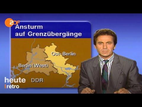 Heute Nachrichten Vom 10.11.1989 - 30 Jahre Mauerfall