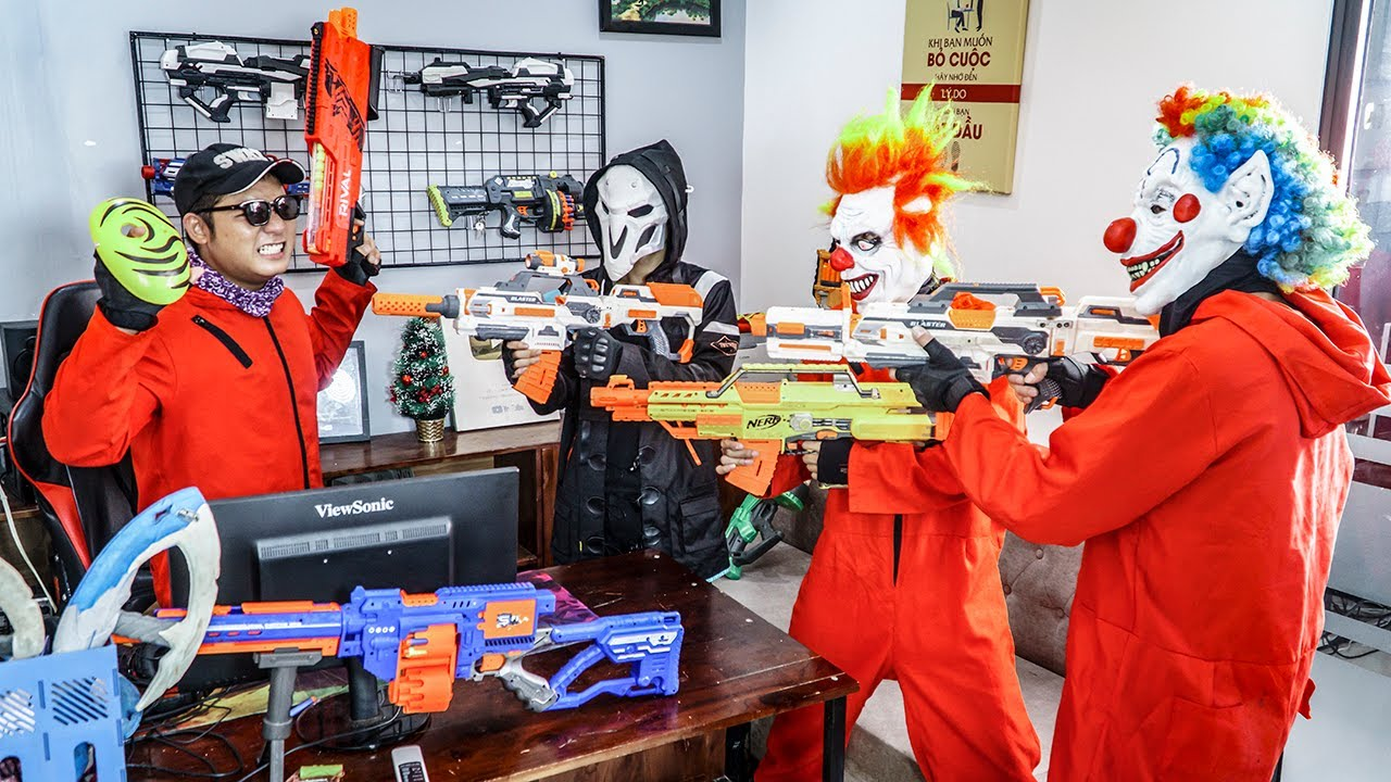 LTT Films : Marines S.E.A.L X Nerf Guns Fight Doomsday Gang Beast Army Mask
