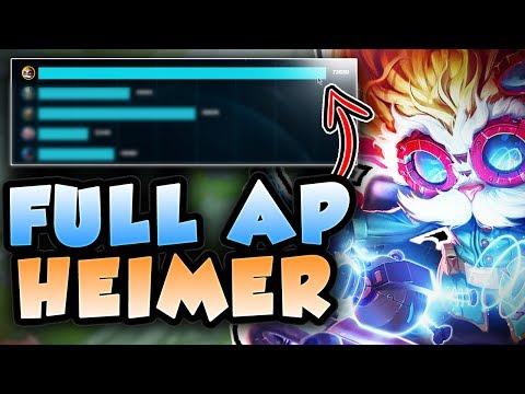 HOW BROKEN IS NEW HEIMER?! DEAL 70,000+ DAMAGE! FULL AP HEIMERDINGER TOP S7! - League of Legends