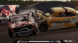 Demolition Derby on a wheel !!! Wreckfest fanatec wheel