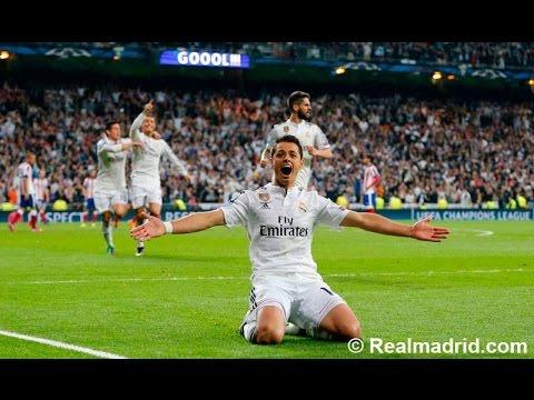 Real Madrid vs Atletico de Madrid Gol de Chicharito Audio Cope 22/04/15 Champions League