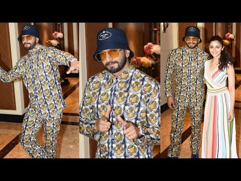 Ranveer Singh In Weird Suit With Alia Bhatt At Gully Boy Promotion Mp3