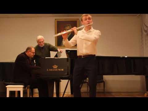 J.Ibert- Flute Concerto 1mvt, Flute -Taras Hudzeliak/Piano- Eugen Dashak