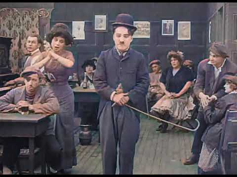 Charlie Chaplin - Caught In A Cabaret (1914) - Color
