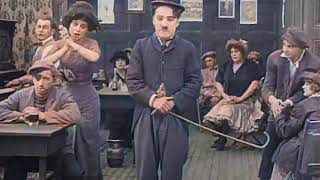 Charlie Chaplin - Caขght in a Cabaret (1914) - color